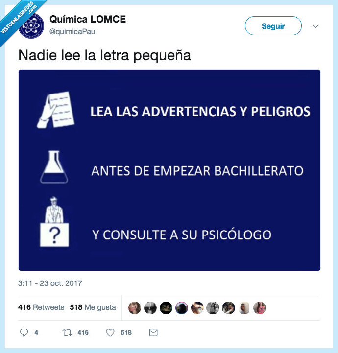 advertencias,bachillerato,peligro