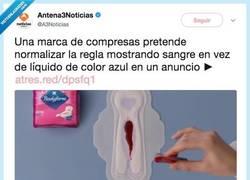 Enlace a Van normalizar el color de la regla en los anuncios de compresas y hay opiniones muy divididas