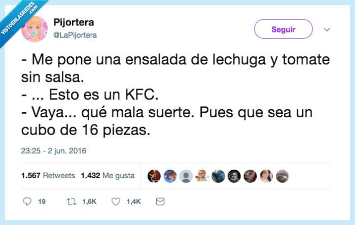cubo,ensalada,kfc