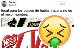 Enlace a Kitkat la caga mucho con el nombre de su nuevo lanzamiento, por @LI3PeO