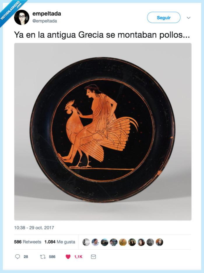 grecia,montar,pollo