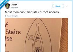 Enlace a La mayoría de tíos no pueden encontrar la escalera 1, por @ayyjqce