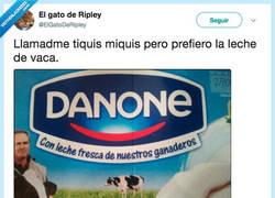 Enlace a Danone casi que preferimos no saber de donde sacáis la leche, por @ElGatoDeRipley