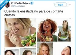 Enlace a ¿Se puede ser más graciosa que la ensalada?, por @ElNinodeltabaco