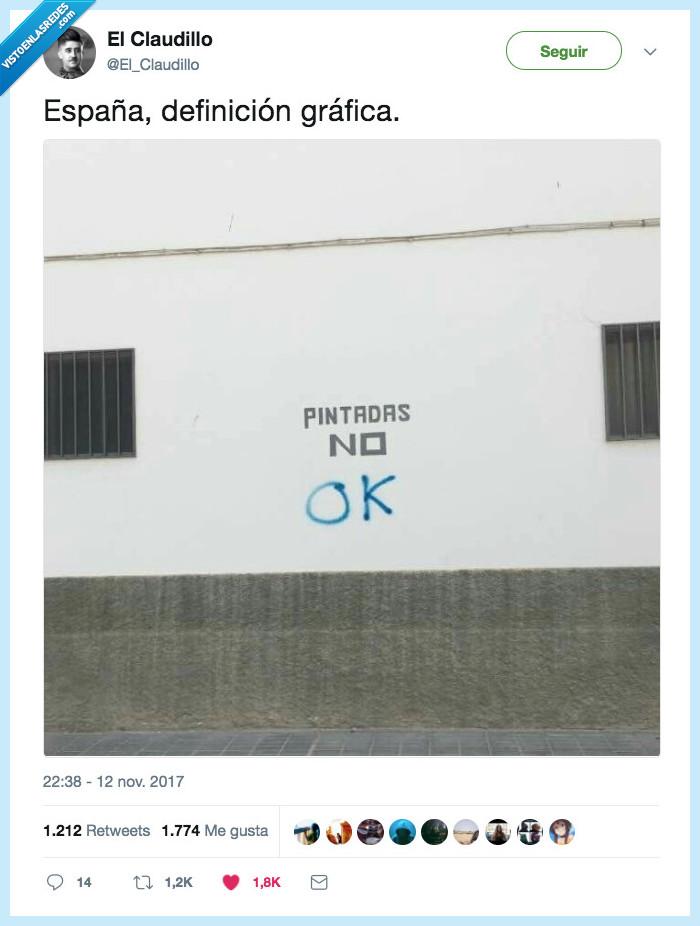 españa,grafittti,pintada