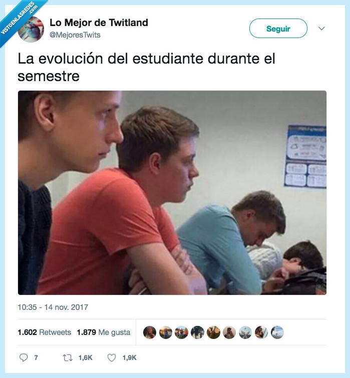 clase,evolución,semestre