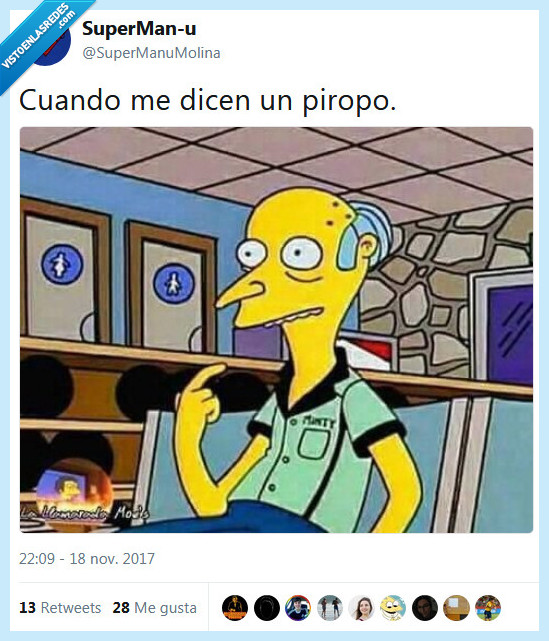 burns,los simpsons,piropo