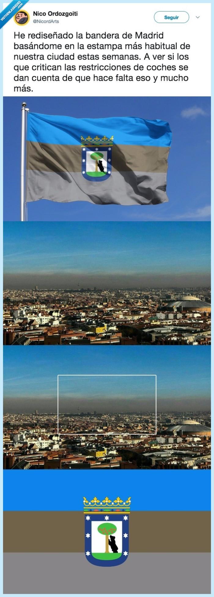 bandera,contaminación,madrid