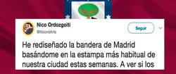 Enlace a Rediseñan la bandera de Madrid mucho más acorde a su triste realidad, por @NicordArts