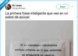 Enlace a La frase más inteligente que leerás hoy, por @LargoJavariega
