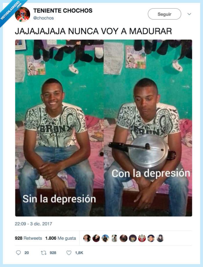 depresión,malisimo,sin depresion