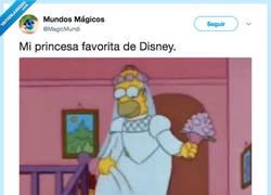 Enlace a Homer es la princesa favorita de Disney, por @MagicMundi