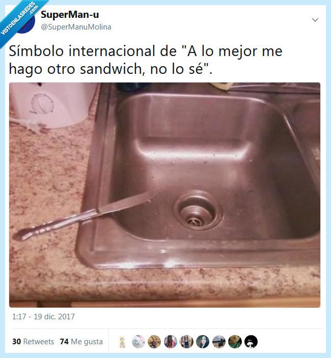 cuchillo,sandwich,símbolo internacional