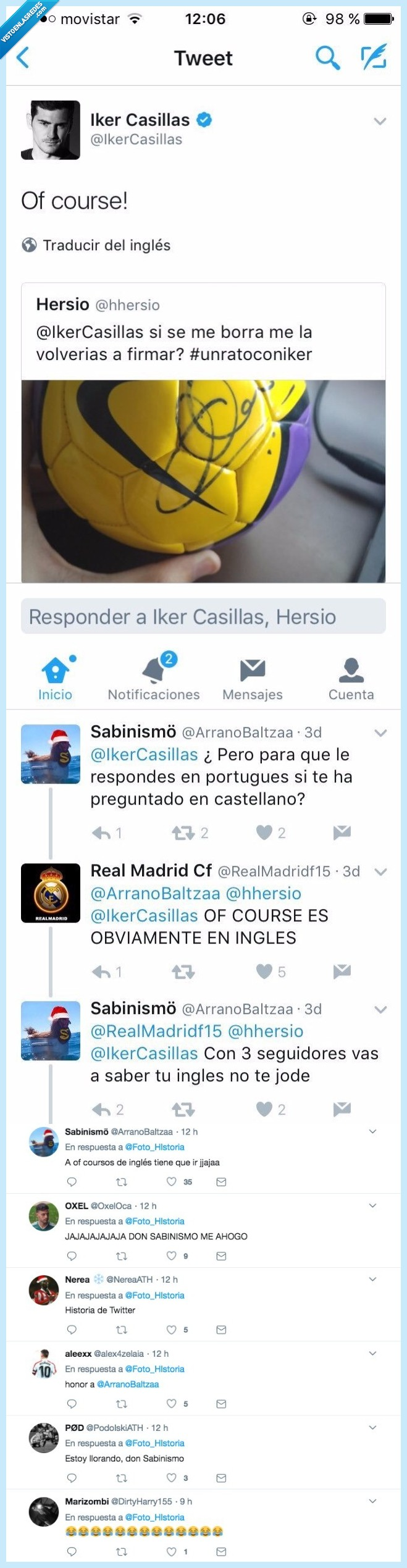 iker Casilla,pelota