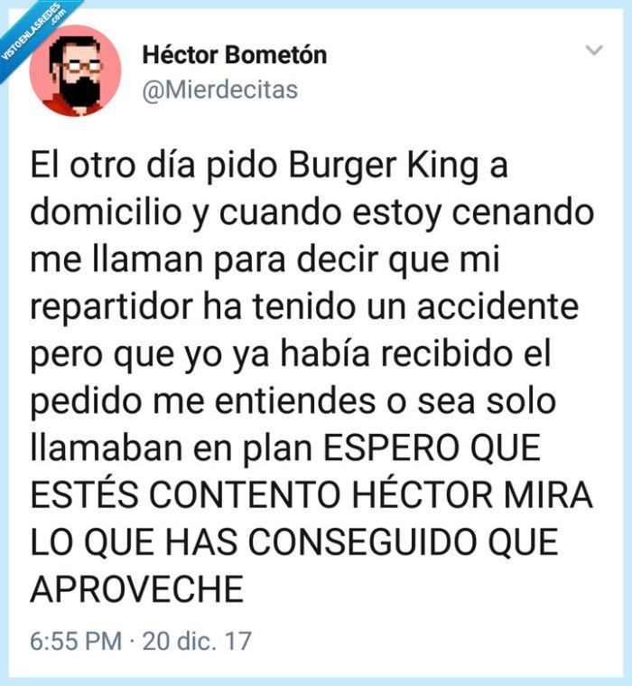 accidente,burger king,domicilio,Twitter