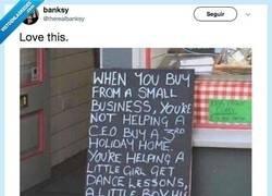 Enlace a Bansky comparte en su cuenta de Twitter un mensaje que todos deberíamos recordar