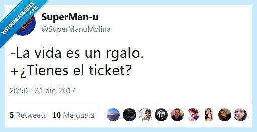 regalo,ticket,vida