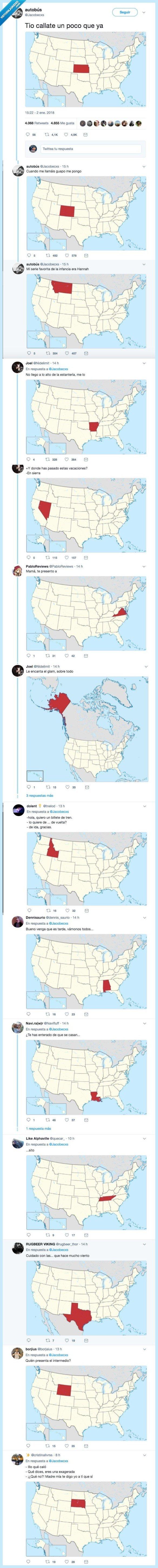 480360 - Se hace viral este juego con los estados de USA y hay algunos que son buenísimos, por @Jacobecxs