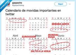 Enlace a Así queda el calendario de festivos en Twitter, por @gazpachoblog
