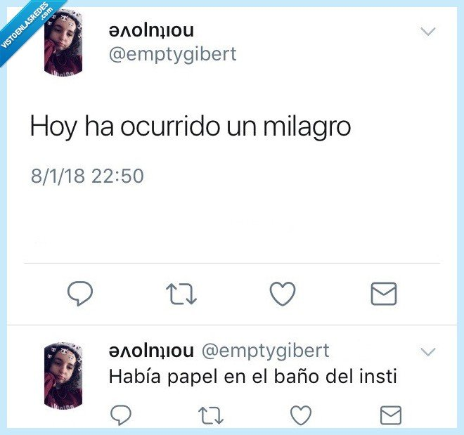 baño,instituto,papel,Twitter