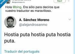 Enlace a El traductor de Bing es una pasada, por @alejandrosanmo