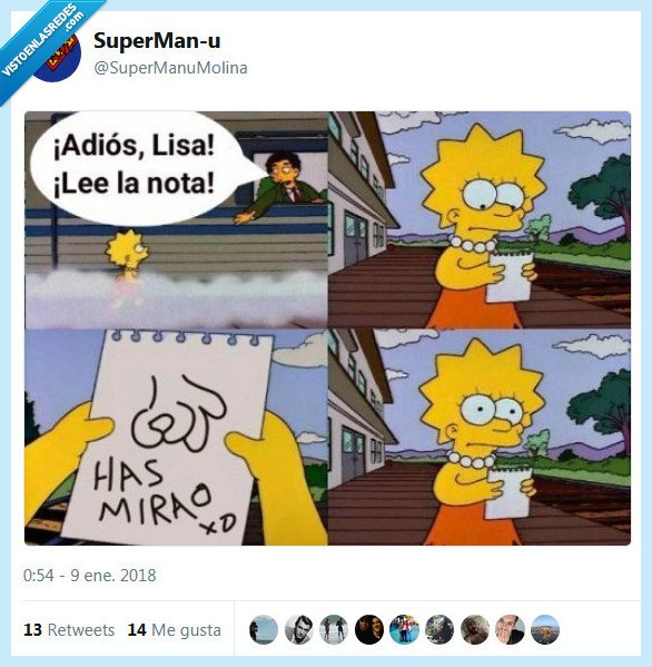 lisa,los simpsons,nota