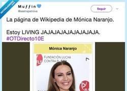 Enlace a Le cambian la entrada de la wikipedia a Mónica Naranjo y es absolutamente genial, por @sestrapetrova