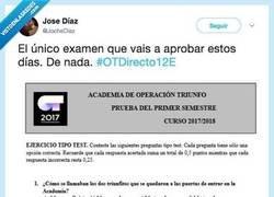 Enlace a El único examnen en el que sacaría matrícula,  por @JocheDiaz