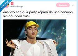 Enlace a Te sientes el mismisimo Eminem, por @cmonspaingirl