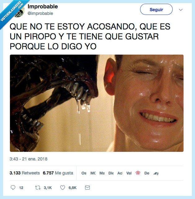 acosar,alien,piropo
