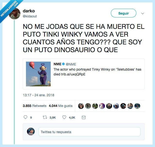 años,dinosaurios,tinkiwinki