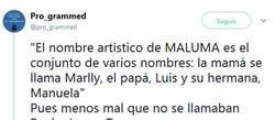 Enlace a ¿Y si la familia de Maluma hubiese tenido otros nombres?, por @pro_grammed