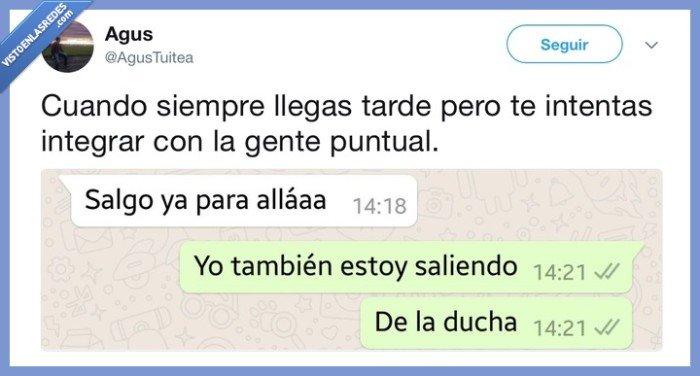 puntualidad,whatsapp,yonuncallegotarde