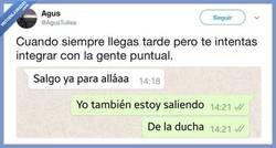 Enlace a La única manera de ser puntual, por @Agustuitea