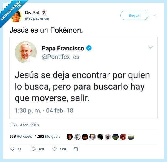 jesús,papa,pokemon