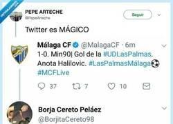 Enlace a Un hincha del Málaga CF se cabrea con el CM de su equipo, por @PepeArteche