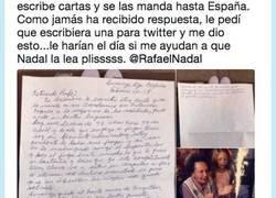 Enlace a La emotiva respuesta de Rafa Nadal a esta señora de 92 que le envía cartas