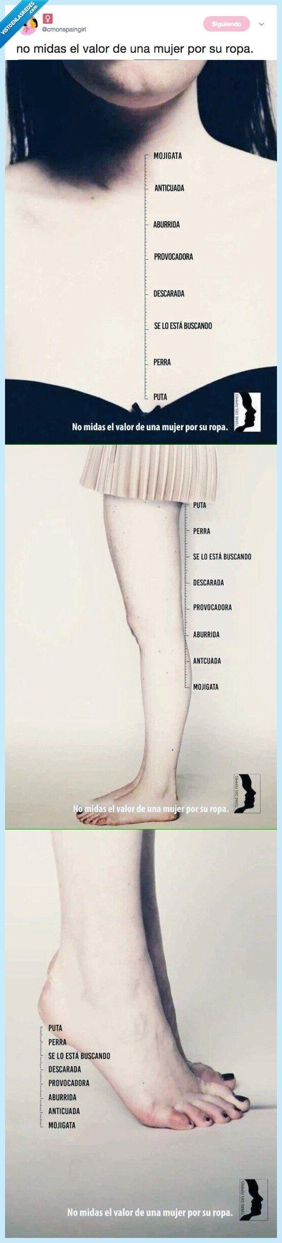 medir,mujer,valor