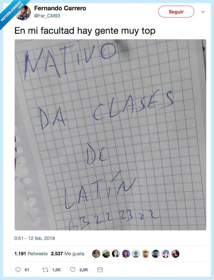 clases,latín,nativo
