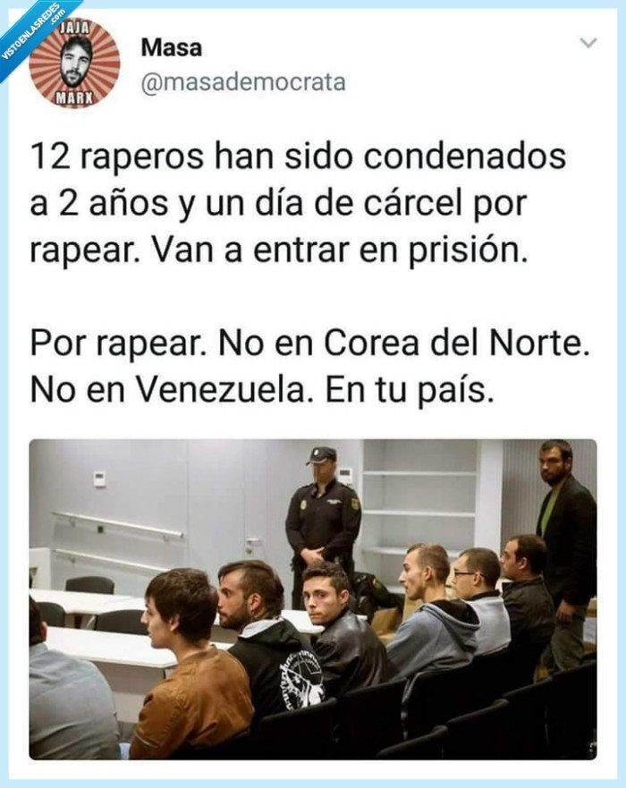 12,condena,españa,rapero