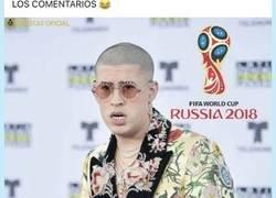 Enlace a Se rumorea que Bad Bunny será el cantante del Mundial Rusia 2018 y las bromas están servidas en la red