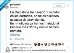 Enlace a Ha nevado en Barcelona y la situación es