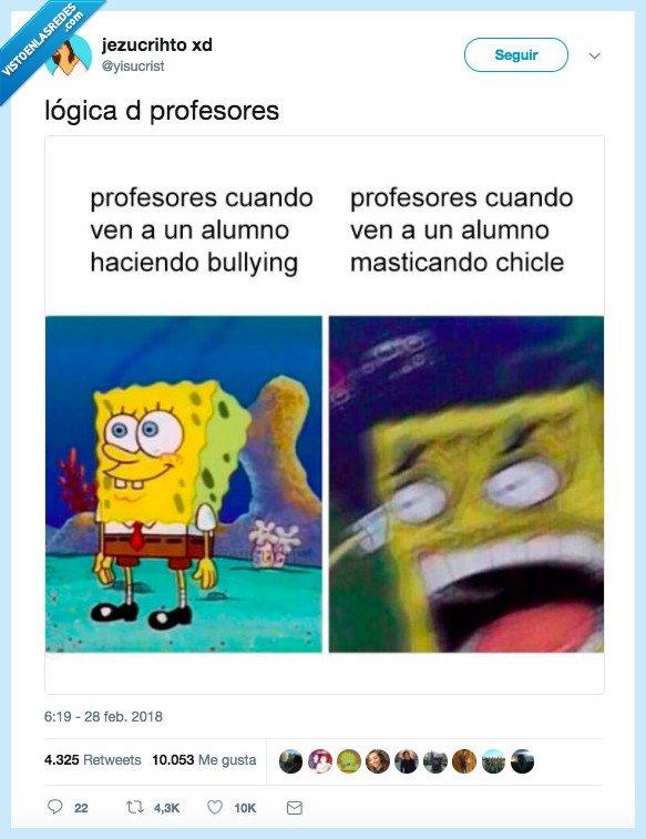 bob esponja,logica,profesor