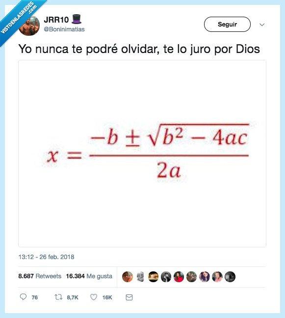 ecuación,olvidar,segundo grado
