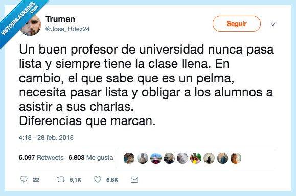 diferencia,profesor,universidad