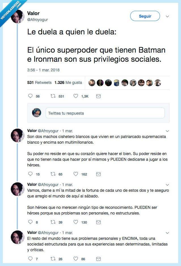 batman,doler,privilegios
