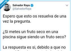 Enlace a El fruto seco en una piscina, por @SalvadorRaya