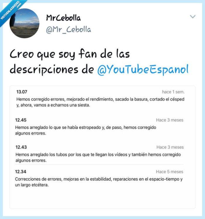 #DescripcionGraciosa,#Fan,#Originales,#YouTube