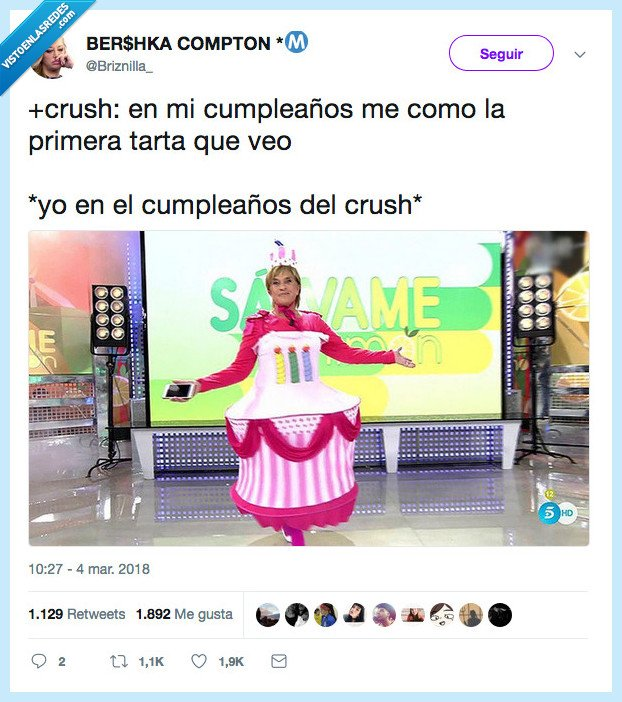 crush,cumpleaños,tarta