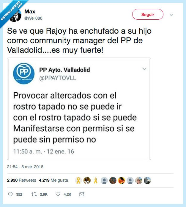 community,enchufe,hijo,rajoy